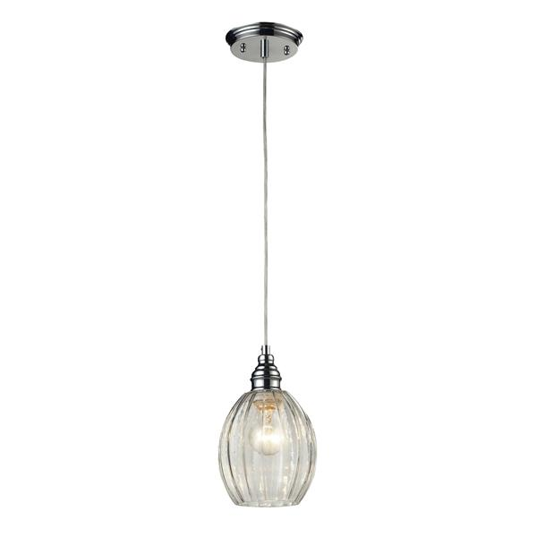 ELK Lighting Danica Mini Pendant Light - 1-Light - 6-in - Polished Chrome