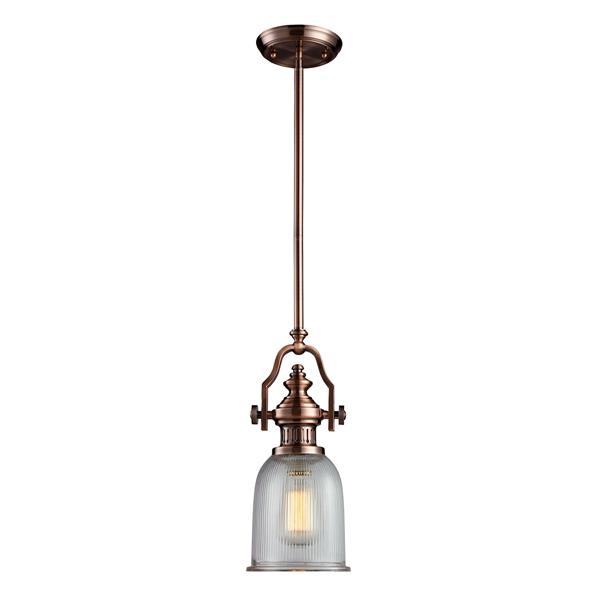ELK Lighting Chadwick Mini Pendant Light - 1-Light - Antique Copper