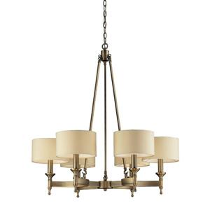 ELK Lighting Pembroke Chandelier - 6-Light - Antique Brass