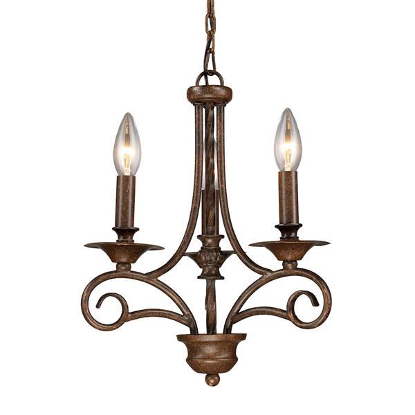 ELK Lighting Gloucester Chandelier - 3-Light - Antique Bronze