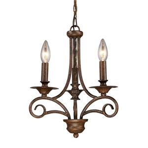 ELK Lighting Gloucester Chandelier - 3-Light - Antique Bronze
