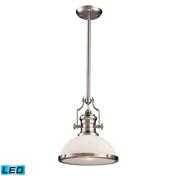 ELK Lighting Chadwick Pendant Light - 1-LED Light - Satin Nickel