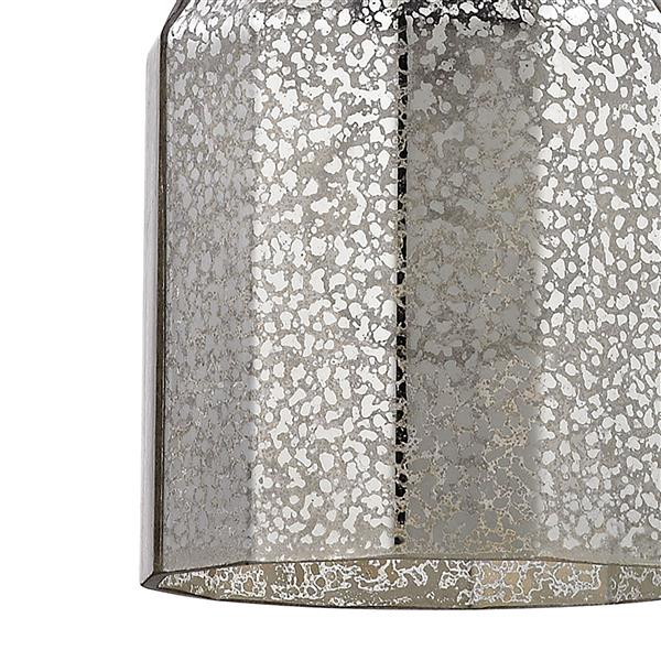 ELK Lighting Danica Mini Pendant Light - 1-Light - Oil Rubbed Bronze with Mercury Glass