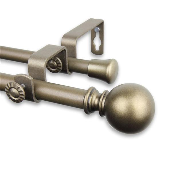 Rod Desyne Luna Double Curtain Rod - 48-84-in- 5/8-in- Gold
