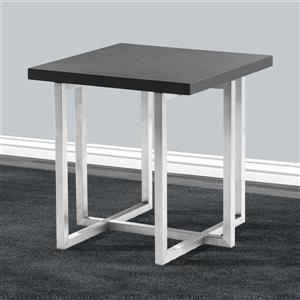 "Armen Living Topaz End Table - 21"" x 21"" - Wood - Gray"