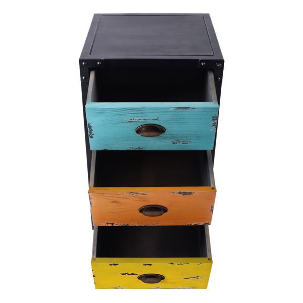 "Armen Living Oskar End Table - 16"" x 26"" - Wood - Multicolour"