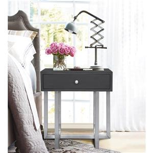 "Armen Living Knight End Table - 22"" x 24"" - Metal - Gray"