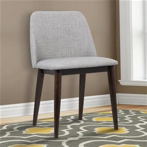 """Armen Living Horizon Dining Chairs - 30"""" - Polyester - Gray - Set of 2"""