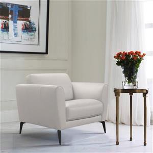 "Armen Living Hope Sofa Chair - 38"" - Leather - Gray"