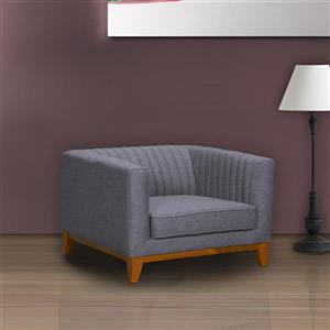 "Armen Living Prism Sofa Chair - 35.5"" - Polyester - Gray"