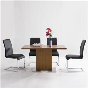 "Armen Living Zenith Bar Table - 32"" x 51"" - Wood veneer - Brown"