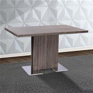 "Armen Living Zenith Pub Table - 32"" x 51"" - Wood veneer - Gray"