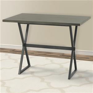 "Armen Living Valencia Bar Table - 32"" x 48"" - Wood veneer - Gray"