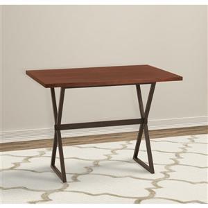"Armen Living Valencia Bar Table - 32"" x 48"" - Wood veneer - Brown"