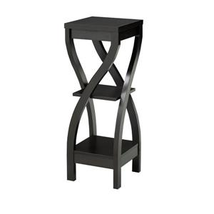 "Brassex 2-Tier Plant Stand - 11.5"" x 32"" - Wood - Dark Cherry"