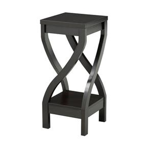 "Brassex Plant Stand - 11.5"" x 26"" - Wood - Dark Cherry"