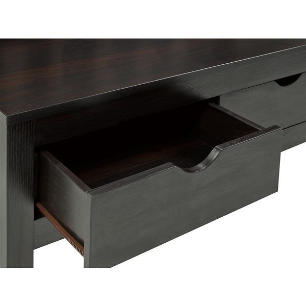 """Brassex Accent Bench with 2 Storage - 39.5"""" - Wood -  Dark Cherry"""