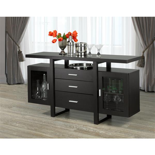 """Brassex Venetian Buffet with Storage - 58"""" - Wood - Dark Cherry"""