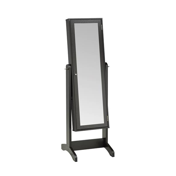 "Jewelry Cabinet with Mirror - 22.5"" x 60"" - Dark Cherry"
