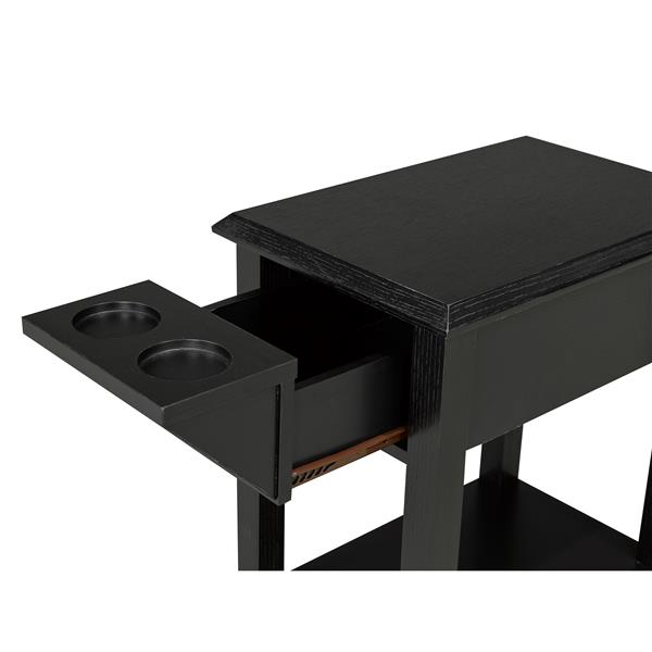 "Telephone Stand with Storage Drawer - 24"" - Wood - Black"