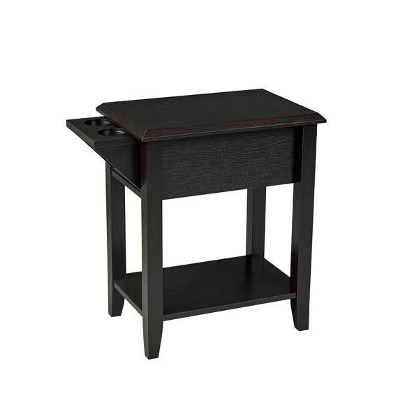 "Brassex Telephone Stand with Storage Drawer - 24"" - Dark Cherry"
