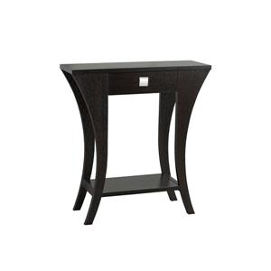 "Brassex Console Table - 11.5"" x 33.5"" - Wood - Dark Cherry"