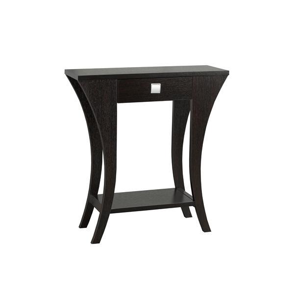 """Table console, 11,5"""" x 33,5"""", bois, cerise foncée"""