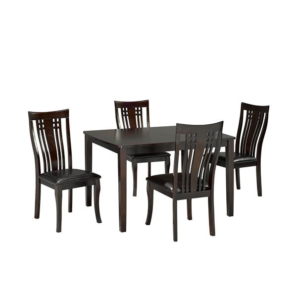 Brassex Fairmont Kitchen Set - Wood - Espresso - 5 Pieces