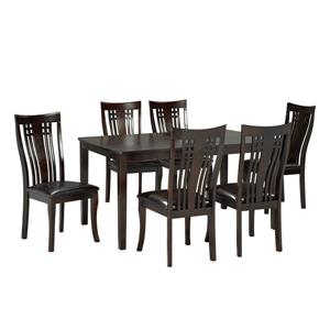 Brassex Fairmont Kitchen Set - Wood - Espresso - 7 Pieces