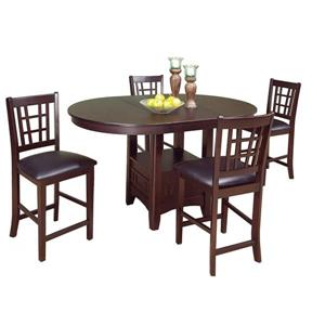 Brassex Tavern Dining Set - Wood - Espresso - 5 Pieces