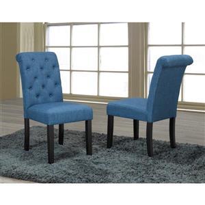 "Chaises de cuisine Soho, 18"" x 19"", tissu, bleu, ens. de 2"