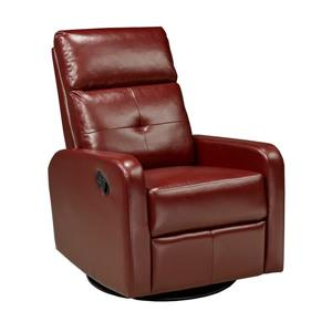 "Brassex Soho Recliner - 21"" x 19"" - Faux Leather - Red"
