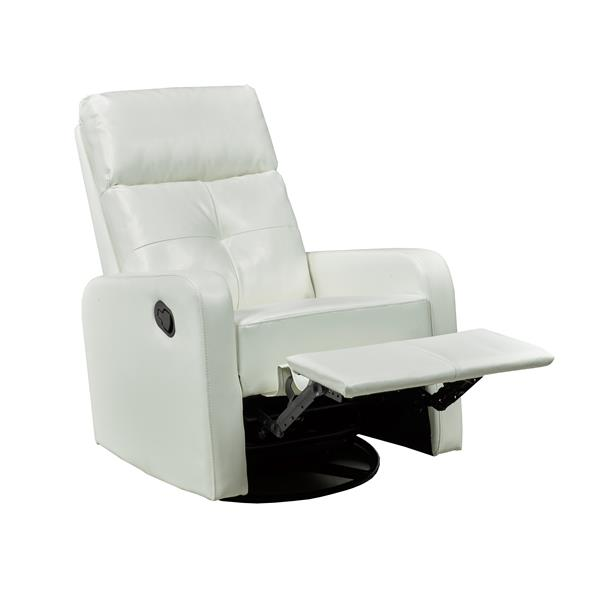 "Soho Recliner - 21"" x 19"" - Faux Leather - White"