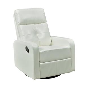 "Brassex Soho Recliner - 21"" x 19"" - Faux Leather - White"