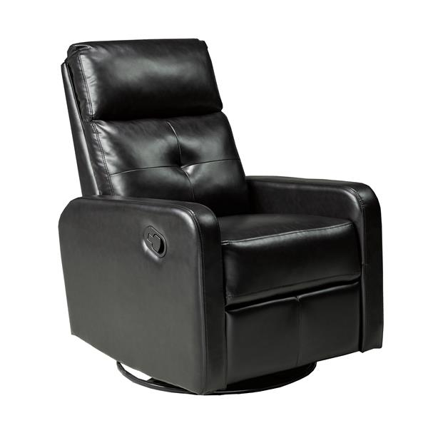 "Brassex Soho Recliner - 21"" x 19"" - Faux Leather - Black"