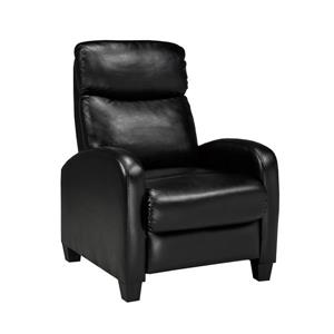 "Brassex Soho Recliner - 21"" x 18"" - Faux Leather - Black"