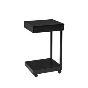 Laptop Stand with Castors - Black