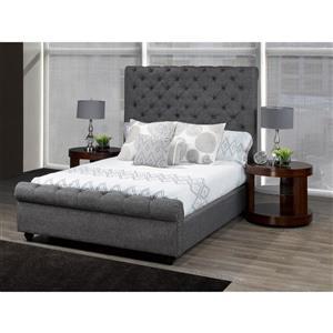"Plateforme pour grand lit Raleigh, 96,5"", lin, gris"