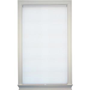 """Store alvéolaire obscurcissant double, 65,5"""" x 72"""", blanc"""