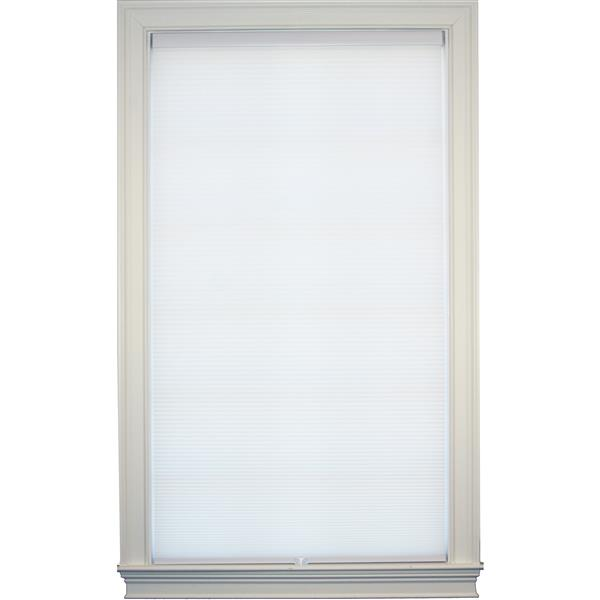 """Store alvéolaire obscurcissant double, 62,5"""" x 72"""", blanc"""