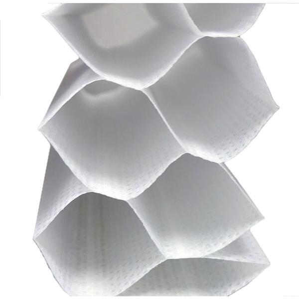 """Store alvéolaire obscurcissant double, 49,5"""" x 72"""", blanc"""