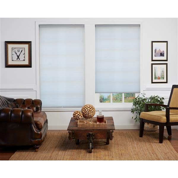 "allen + roth Room Darkening Double Cell Shade - 20.5"" x 72"" - White"