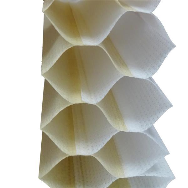 """Store alvéolaire obscurcissant double, 64""""x 72"""", jaune/blanc"""