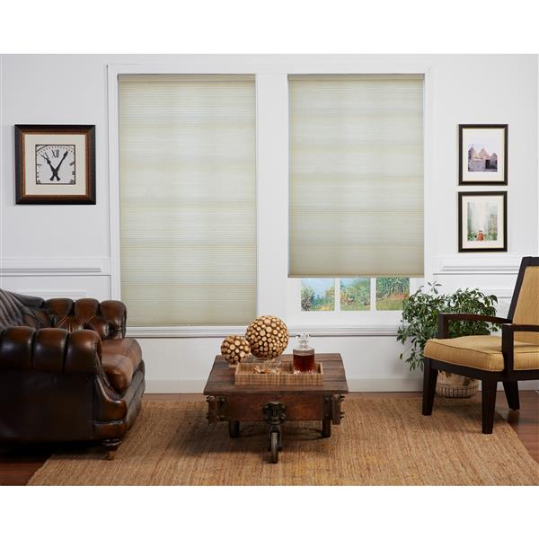 "allen + roth Room Darkening Double Cell Shade - 51"" x 72"" - Straw-White"