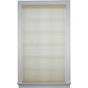 "allen + roth Room Darkening Double Cell Shade- 21.5"" x 72"" - Straw-White"