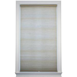 "allen + roth Room Darkening Double Cell Shade- 69.5"" x 72"" - Sand-White"