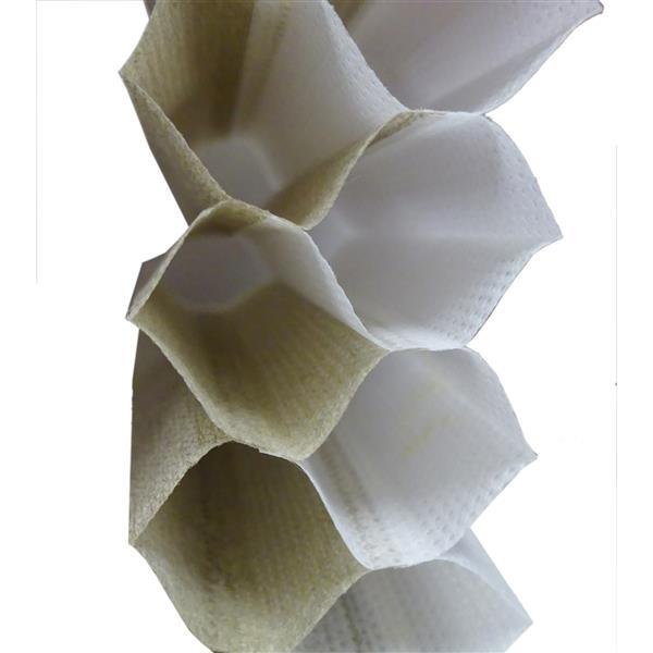"""Store alvéolaire obscurcissant double 64,5""""x72"""", sable/blanc"""