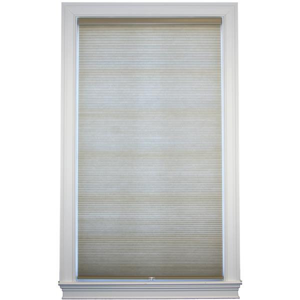 "allen + roth Room Darkening Double Cell Shade - 61"" x 72"" - Sand-White"