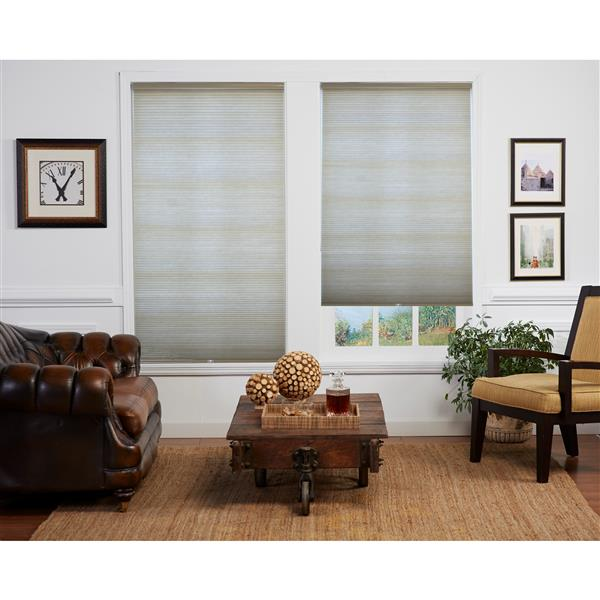 "allen + roth Room Darkening Double Cell Shade - 40"" x 72"" - Sand-White"