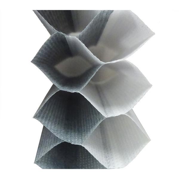 """Store alvéolaire obscurcissant double65,5""""x 72"""", gris/blanc"""